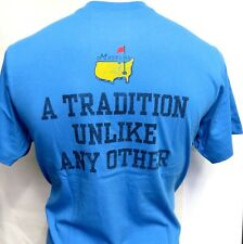 NEW Masters Turbo Blue T-Shirt SIZE  LARGE  A TRADITION UNLIKE ANY OTHER '47