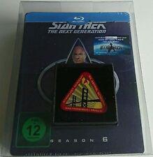 Star Trek Next Generation Season 6 Blu-Ray Dt. Steelbook Neu OVP Lit. Edit. Pin