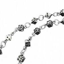 Metal Biker / Wallett / jeans / Trouser chain with 46 dice & twin chain