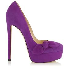 Jimmy Choo Women's Kenedy 150  Suede Platform Pumps Shoes Purple 37
