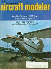 1971 American Aircraft Modeler Magazine: Toledo RC Show 1971/Martin Baker M.B.5