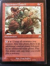 Aggravated Assault Onslaught Single MTG NM+ Magic Card