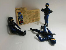 Three G.I. Joe 1982 Cobra Officer { The Enemy }