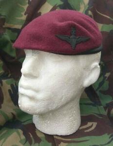 Parachute Regiment Para Airborne Beret Small Crown Black Cap Badge New.