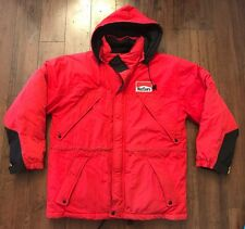 VINTAGE MARLBORO COUNTRY STORE RED DOWN WINTER PARKA PUFFER COAT JACKET SZ M