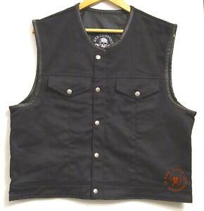 Bad Company Leatherwear Jeansweste Bad Co.Denim Zip Bikerweste Kutte Rockerkutte