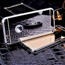 Spiegel Handy Schutz Hülle Mirror Ultra dünn Cover Case Silikon Panzer Glas