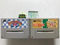 lot 2 Star kirby set Nintendo Super Famicom Bowl deluxe SFC Japan SNES Game JP