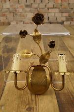 60er FLORENTINER WANDLAMPE LAMPE LEUCHTE Hollywood Regency GOLD WANDLEUCHTE 50s