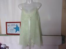 VICTORIA'S LADIES BABY DOLL SLEEPWEAR GREEN  SIZE MEDIUM