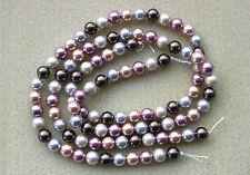 Shell Pearls 8mm Multi-Coloured - Full Strand