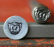 SUPPLY GUY 7mm Monkey Face Metal Punch Design Stamp SG375-16, Made in the USA