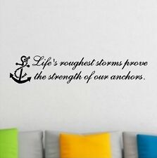Life's Roughest Storm Beach Inspirational Wall Decal Removable Lettering Quotes
