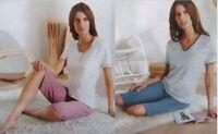 Damen Pyjama Schlafanzug Shorty Kurzarm Bio-Baumwolle NEU Gr. 36/38 40/42 44/46