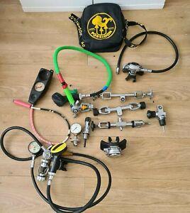 Job Lot Vintage Scuba Diving Equipment Poseidon Regulators Aqua lung Scubapro