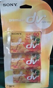 3 X Sony dvm60pr3 premium mini DV tapes sealed