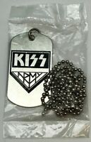 KISS Army Dog Tag Band Memorabilia-Silver Necklace-Gene Simmons Paul Stanley