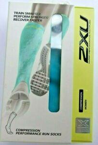 2XU Women's Compression Performance Run Socks- XS- green