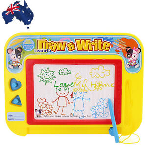 Polychrome Magnetic Drawing Board Sketch Pad Doodle Writing Art Child GWRIT3021