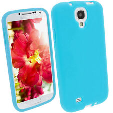 Blue Silicone Skin Case for Samsung Galaxy S4 IV I9500 Android Cover Shell
