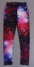 Lotus Leggings Women's Galaxy Print Legging ML3 Blue Galaxy Medium NWT