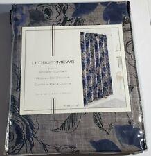 "Ledbury Mews Fabric Shower Curtain Blue Gray Katurah 72 x 72"" Flower Floral"