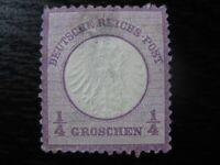 DEUTSCHES REICH Mi. #1 scarce mint no gum Brustschild shield stamp! CV $85.00