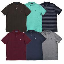 Polo Ralph Lauren Hombres Camisa Polo de enclavamiento de tacto suave S M L XL XXL Nuevo