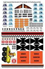 "SPACE 1999 EAGLE DECALS - 12"" Models - 150 Decals - Pilots, Details & Panels NEW"