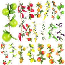 10x Assorted Hanging Artificial Fake Fruit Garlands Wholesale Job Lot