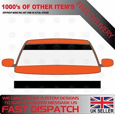GLOSS BLACK WINDSCREEN SUNSTRIP 2000mm x 190mm VAN DECALS GRAPHICS STICKERS