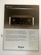 McINTOSH LABS OEM MCD301 CD/SACD PLAYER PRODUCT BROCHURE - MINT!