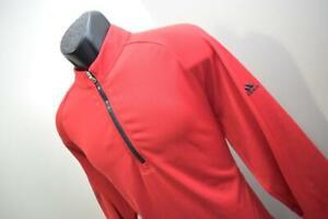Adidas Golf Jacket Athletic Zip Neck Red Long Sleeve Mens Size Medium