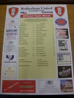 01/04/2002 Colour Teamsheet:  Rotherham United v Millwall  . Thanks for viewing