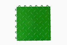 Speedway Garage Tile Mfg. Green Garage Floor Tiles - Diamond plate