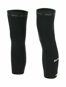 Santini Totum Cycling Knee Warmers in Black