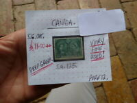 CANADA QUEEN VICTORIA 2c DEEP GREEN STAMP VERY FINE USED S.G 125