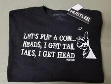 new mens Hustler lets flip a coin t-shirt.