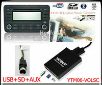 Yatour Digital CD changer for Volvo SC-XXX radios Mini Din AUX SD USB Adapter
