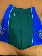 Dallas Mavericks Authentic Shorts Green Blue Size 40 +2 Length Reebok Alternate