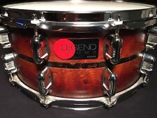LEGEND MAPLE SNARE by KAMEN with BUBINGA OUTER PLY! Incredible Drum! CLEAN! 14""