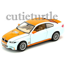 Motormax Bmw M3 Coupe Gulf Oil 1:24 Diecast Display Toy Car 74644D Light Blue