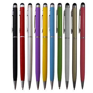 5x Touchpen Stylus Eingabestift Kugelschreiber Mix Farben Smartphone Tablet