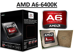 AMD A6-6400K Dual Core Processor 3.9 - 4.1 GHz, Socket FM2, 65W CPU
