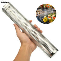 12'' Smoker Tube Smoke Box Charcoal Gas Grill BBQ Wood Chips Grilling Meat