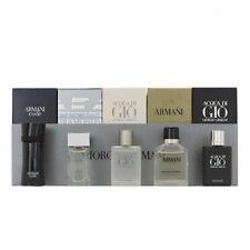 Giorgio Armani 5pc Mini Cologne Set for Men Di Gio + Diamonds + Profumo + Code