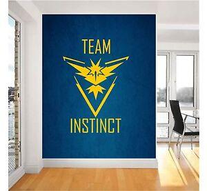 Pokemon Go Team Instinct Symbol Wall Art Stickers decal design