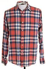 J Crew Mens sz M Madras Shirt Multicolor Plaid Check LS Button Front Shirt