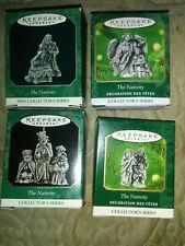 Lot Of 4 Hallmark Keepsake The Nativity Complete Collector Series Mib
