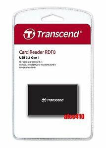 Transcend RDF8 Card Reader USB3.1 for CF/SD/SDHC/SDXC/Micro SD SDHC SDXC AU